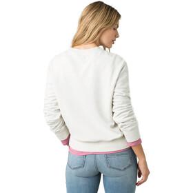 Prana Graphic Sweat-shirt manches longues à col ras-du-cou Femme, white wander